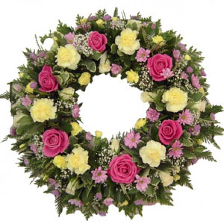 Wreath Pink Rose