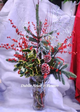 Christmas in a vase